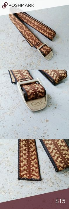 """Chaco 1"""" webbing belt - brown and tan Chaco's modern belt style. Same webbing as their classic sandals. 49"""" long, but can be trimmed. NWOT Chacos Accessories Belts"""