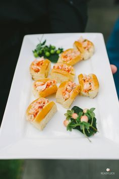 Mini lobster rolls: http://www.stylemepretty.com/connecticut-weddings/stonington/2016/01/07/rustic-romantic-connecticut-vineyard-wedding/ | Photography: Readyluck - http://readyluck.com/