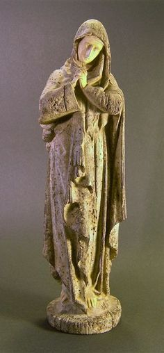 Ancient ceramic sculpture of Saint Mary Magdalene, dating from the 16th/17th-century, French school.