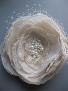 Custom order for Lindsey Flower and netting vintage by LeFlowers