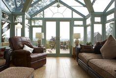 REHAU Chartwell Green uPVC Conservatory interior