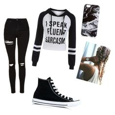 Untitled #1 by sattaurea on Polyvore featuring polyvore, fashion, style, Topshop, Converse and clothing
