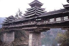 中国 地平風雨橋 外観