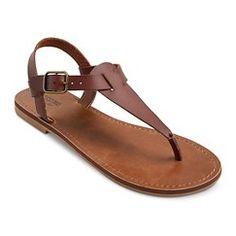 Women's Lady Flat Sandals - Cognac 11