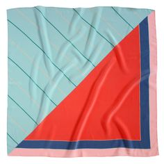Noe Silk Scarf In Powder Blue  Geranium