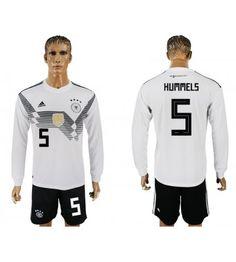 Deutschland Mats Hummels 5 Heimtrikot WM 2018 Herren Langarm Toni Kroos, Mats Hummels, Thomas Muller, Arsenal, Mario, Sports, Tops, Fashion, Marco Reus