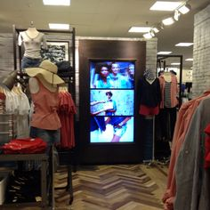 Digital Signage Screen in retail. www.doohdas.com open for entries - June 1 - September 30