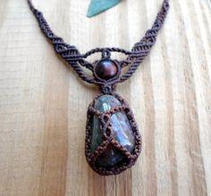 Collier en macramé agate bijoux en macramé collier par SelinofosArt                                                                                                                                                     Plus