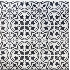 Ivy Hill Tile Sintra White Ornate Encaustic 9 in. x Mate Porcelain Floor and Wall Tile pieces / sq. / - The Home Depot Black White Bathrooms, White Bathroom Tiles, Black And White Tiles, Bathroom Floor Tiles, Wall Tiles, Tile Floor, Master Bathroom, Small Bathroom, Black And White Backsplash