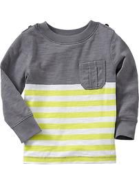 Old Navy: Color-Block Stripe Slub-Knit Tees for Baby