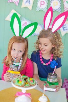 The TomKat Studio: Easter Egg Hunt + Egg Decorating Party for HGTV  super cute bunny ears idea!!