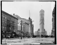 Longacre Square, New York - before it was called Times Square