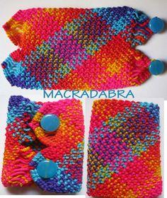 #Brazalete Multicolor en Macramé Punto Escoses