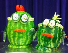 #FoodArt Friday Holland MI Minions of reasons to eat @SchoolLunch Incl. GR8 food! @WatermelonBoard @TeamNutritionMI