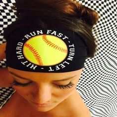 Softball Hippie Runner Headband styles are chosen for their ultra vivid hues and patterns ! They stay put and wick away sweat while running, cycling, yoga or riding your favorite bike! They look fabulous going Softball Party, Softball Crafts, Softball Bows, Softball Quotes, Softball Shirts, Softball Pictures, Girls Softball, Fastpitch Softball, Softball Players