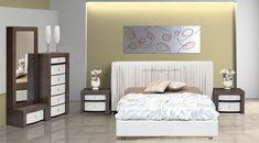 ΠΑΤΗΣΤΕ ΣΤΗΝ ΕΙΚΟΝΑ ΓΙΑ ΝΑ ΔΕΙΤΕ ΤΗΝ ΤΙΜΗ ΤΗΣ ΚΡΕΒΑΤΟΚΑΜΑΡΑΣ.  Η δερμάτινη κρεβατοκάμαρα με το κουρμπαριστό ντυμένο κεφαλάρι σε ένα μοντέρνο ύφασμα ή άλλο υλικό,δίνει ένα πολύ εντυπωσιακό τόνο στο δωμάτιο και μετρατρέπει το κρεβάτι σας σε ένα κεντρικό σημείο που μαγνητίζει το βλέμμα.Όμορφο και καλαίσθητο αποτέλεσμα μας δίνει η επιλογή της ίδιας απόχρωσης τεχνοδέρματος σε όλες τις εξωτερικές όψεις των συρταριών.