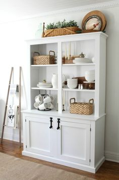 How to Style a Dining Room Hutch | Dining room hutch, Room and ...
