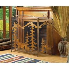 With Love Home Decor - Rustic Forest Fireplace Screen, $55.99 (http://www.withlovehomedecor.com/products/rustic-forest-fireplace-screen.html)