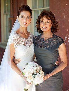 Vestido para mãe da noiva com renda - Fotos
