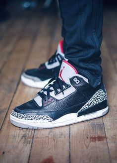 Nike Air Jordan III Retro Black Cement (by stanreports)