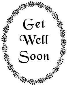 Get well soon printable
