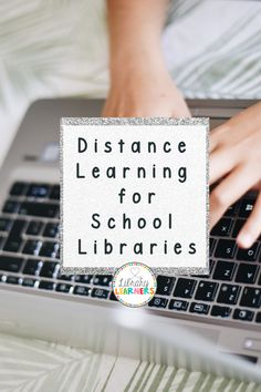 Looking for distance learning links for your students? Check out this list that you can share with your school library community! School Library Lessons, Library Lesson Plans, Middle School Libraries, Elementary School Library, Library Skills, Elementary Schools, School Library Themes, Library Book Displays, Library Books