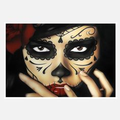 Sugar Skull makeup. This would be cool to do as a costume.