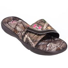 85adcc1807ca Under Armour Sandals  1252542 200 Ignite Camo VII Women s Cleveland Brown  Realtree Slide On Sandals