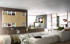 composizione 514 skyline 2.0 moderno - soggiorno | il soggiorno ... - Soggiorno Tv Orientabile 2