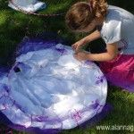 Hula Hoop Hideout - #art, #diy, craft