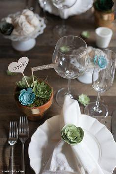 DIY Wedding Favors - Succulents by lia griffith | Project | Home Decor | Papercraft / Decorative | Weddings | Kollabora