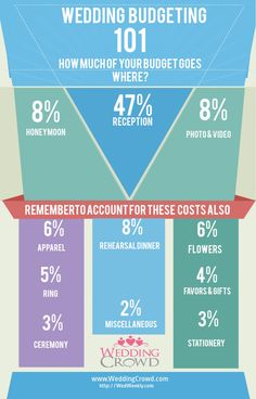 Wedding Budgeting 101 Infographic