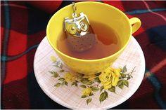 Owl tea strainer