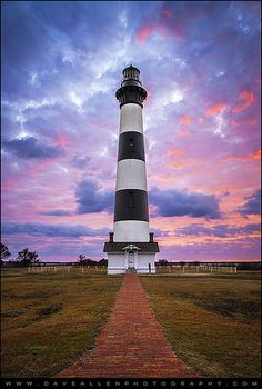 Bodie Island Lighthouse Sunrise OBX Outer Banks NC - The Gatekeeper by Dave Allen Photography www.daveallenphotography.com