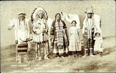 Heavy Runner, Joe Healy & Family, Blood Indians (c1911)
