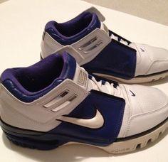 353b24fb13af Nike Lebron I ZOOM GENERATION Low OG Size 7.5 White Blue 308573 112 LBJ FTB