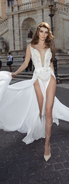 """Julie Vino wedding dresses 2017 Spring bridal collection it's all about glamour and romance. Inspired by The Eternal City,the """"Roma"""" bridal collection Spring 2017 Wedding Dresses, Sexy Wedding Dresses, Bridal Dresses, Bridal Collection, Dress Collection, 2017 Bridal, V Neck Wedding Dress, Glamour, Beautiful Gowns"""