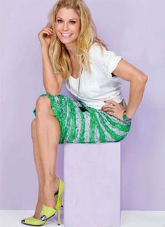 """Lucky Magazine Julie Bowen, ... ... On style:   ... ... ... ... ... ... ... ... ... ... ... """"It took me forever to invest in new shoe booties. I had all these pairs from the '90s and all the other shoes in my closet were point at them and laughing. It was a big evolution in style for to grow up and say, 'I need to take fashion seriously for my job.' I have a stylist now, and she's trying to get me to wear more revealing stuff. ... cont. ..."""