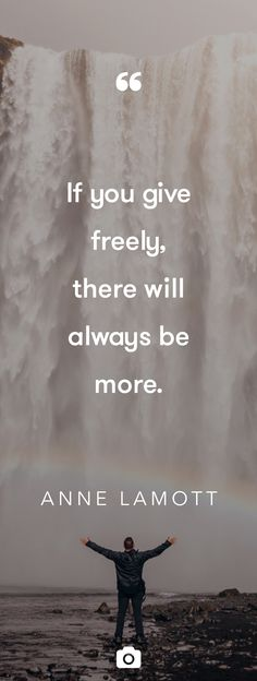 """""""If you give freely, there will always be more."""" — ANNE LAMOTT Photo by Jared Erondu via Unsplah Anne Lamott, Great Quotes, Quotes To Live By, Inspirational Quotes, Bible Quotes, Bible Verses, Qoutes, Cool Words, Wise Words"""