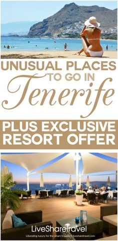 Unusual places to go in Tenerife. Tenerife has long been popular for eternal sunshine, cocktails on the beach and family attractions. But if you're looking for something a little bit different to see and do in Tenerife, here's some ideas for a day trip. And don't miss our  luxury resort offer for Pearly Grey Ocean Club, in the tranquil village of Callao Salvaje, exclusive to LiveShareTravel Readers.