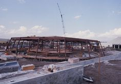 Forty years ago this week, Walt Disney's Carousel of Progress opened at Magic Kingdom Park and this classic attraction has entertained guests visiting the Walt Disney World Resort for generations.  Here's a look at the Carousel of Progress being built in 1974.