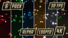 6Fresh and Shiny Backgroundsof Slow Falling Diamonds and Gems! Red, Green Blue, Yellow, White and Multicolored        6 x Ultra HD fresh background video files           100% Looped          ...