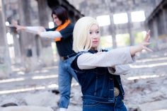 Android 18 / Android 17 - Attack by *cloeth on deviantART Android 18 Cosplay, Dbz, Sexy, 18th, Punk, Deviantart, People, Style, Swag