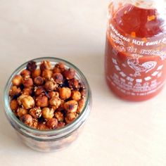 Combining a love of roasted chickpeas and a sriracha obsession! These are a crazy addictive healthy snack that are super easy to make.
