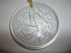 IMPERIAL Carnival Glass 12 Days Of Christmas FOUR COLLY BIRDS Ornament  #imperial