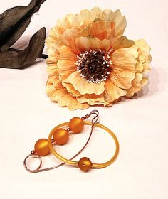 Colorful Brooch Copper bracelet with Swarovski Shawl pin.  Use Code 15PINTEREST and save now the 15%!!!