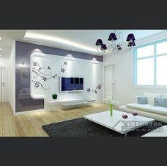 Shelves Tv Cabinet Design, Tv Unit Design, Tv Wall Design, House Design, Bedroom Wall Units, Living Room Designs, Living Room Decor, Lcd Units, Tv Wall Cabinets