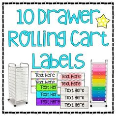 Classroom Labels, Classroom Supplies, Classroom Design, Classroom Resources, Classroom Themes, Classroom Organization, I Love School, School Stuff, Teacher Rolling Cart