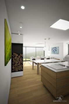 Interiér nízkoenergetického domu v Devíne - obývačka