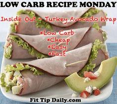 Low Carb Recipe Monday - Inside Out Avocado, Turkey Wrap
